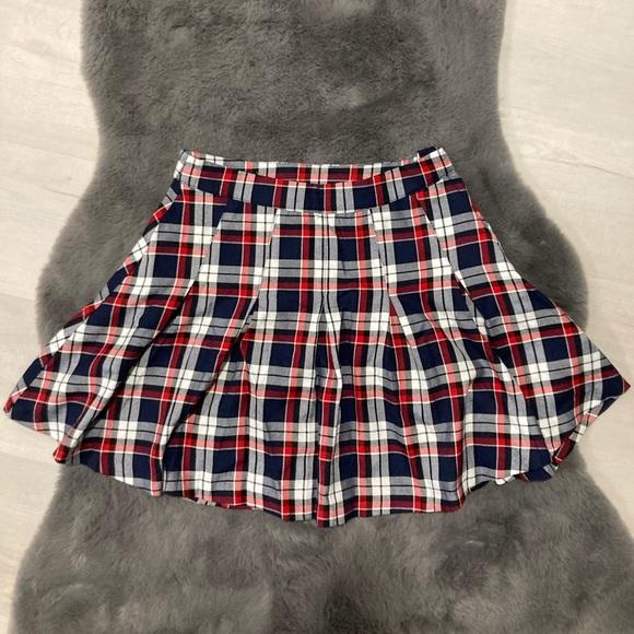 School girl style mini skirt